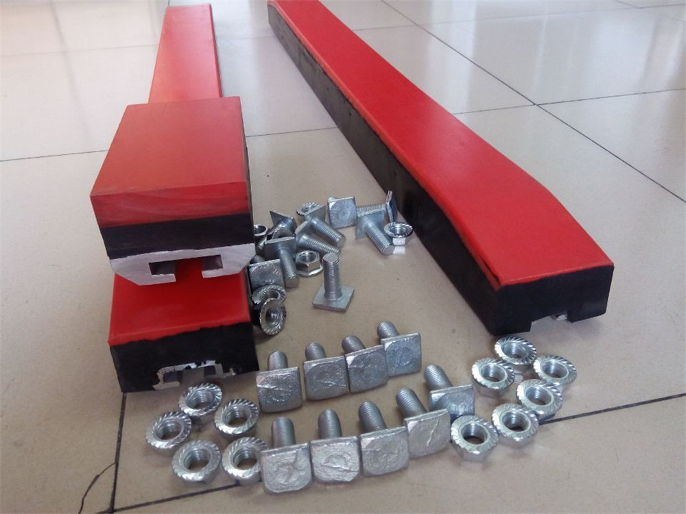 Different uhmwpe conveyor impact bar ,impact bed with T blots