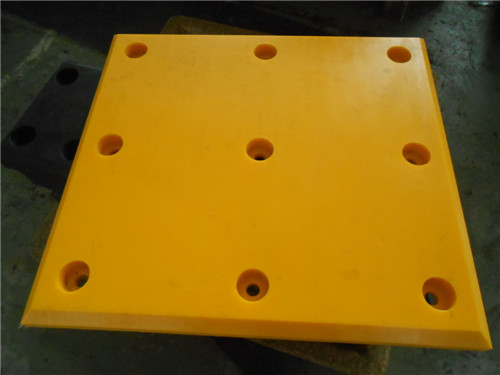 Yellow UHMWPE Fender Facing pads /Plates
