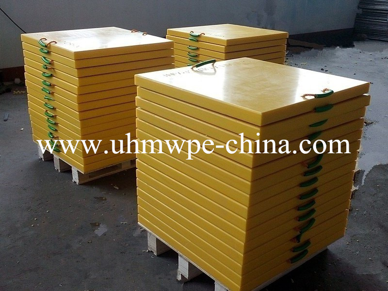 UHMWPE plastic outrigger pad | Crane leg support