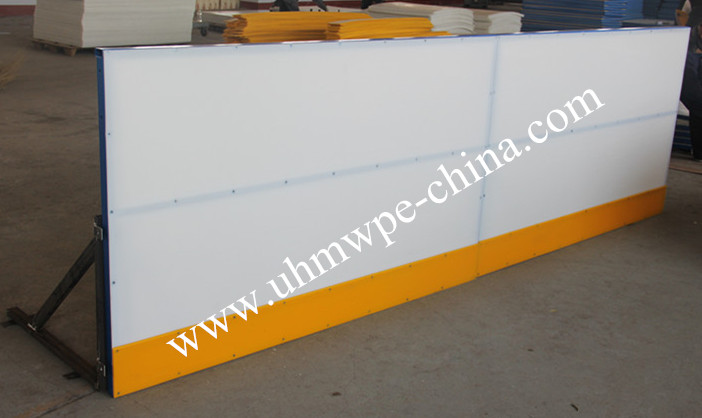 Popular Hockey Dasher board with Steel Frame or Aluminium for Real Ice