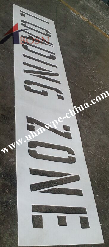 New Application for Our HDPE Sheet-Traffic Stencil
