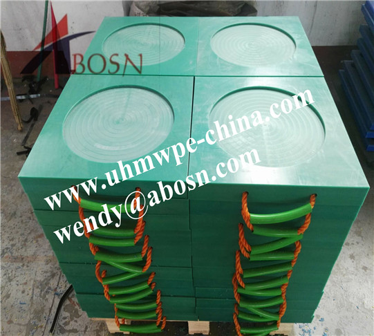 Portable UHMWPE Cribbing Plate for Crane