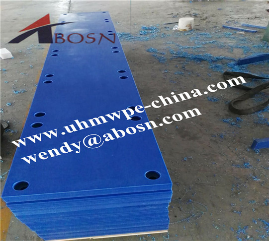 Blue UHMW-PE Flat Sliding Fender Panel