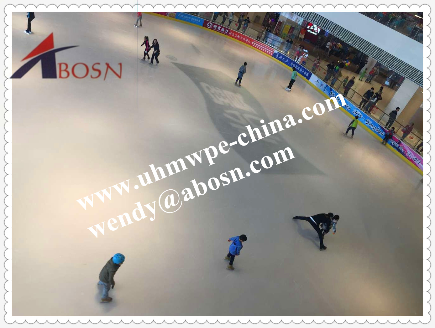 Solid Polymer Synthetic Ice Rink Designed for Skating