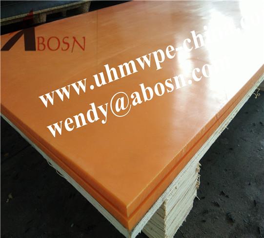 12 mm Thickness Orange UHMW PE 1000 Sheet