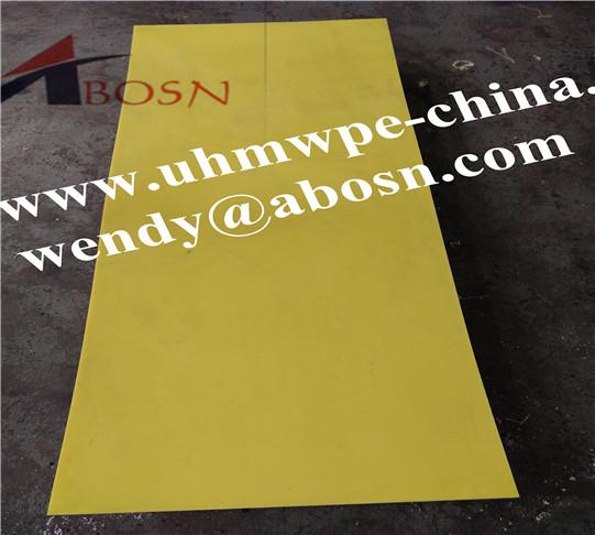 3050x1220x10mm Yellow UHMWPE Sheet