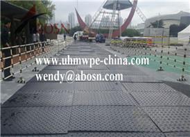 Temporary Road Mat on the Stadium