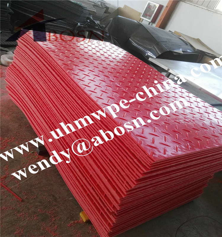 HDPE Access Mat in Red Color