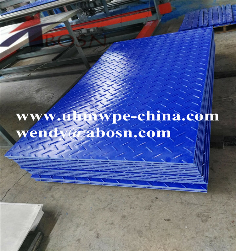 Dark Blue Portable HDPE Access Mat