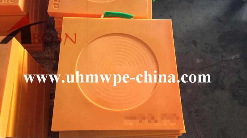 600x600x60mm Orange UHMWPE Crane Outrigger Pad
