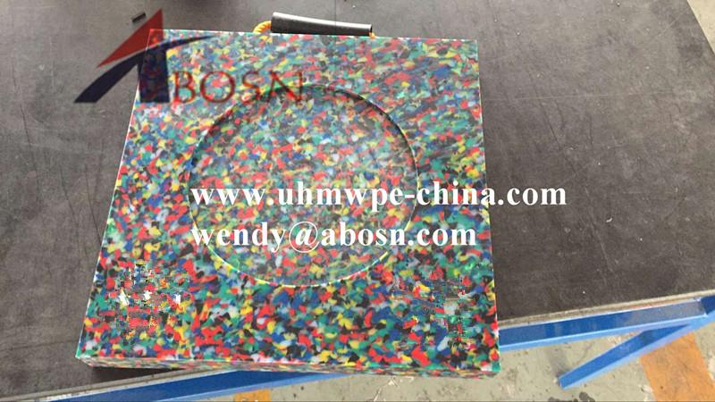 Colorful Concrete Pumps Outrigger Pad
