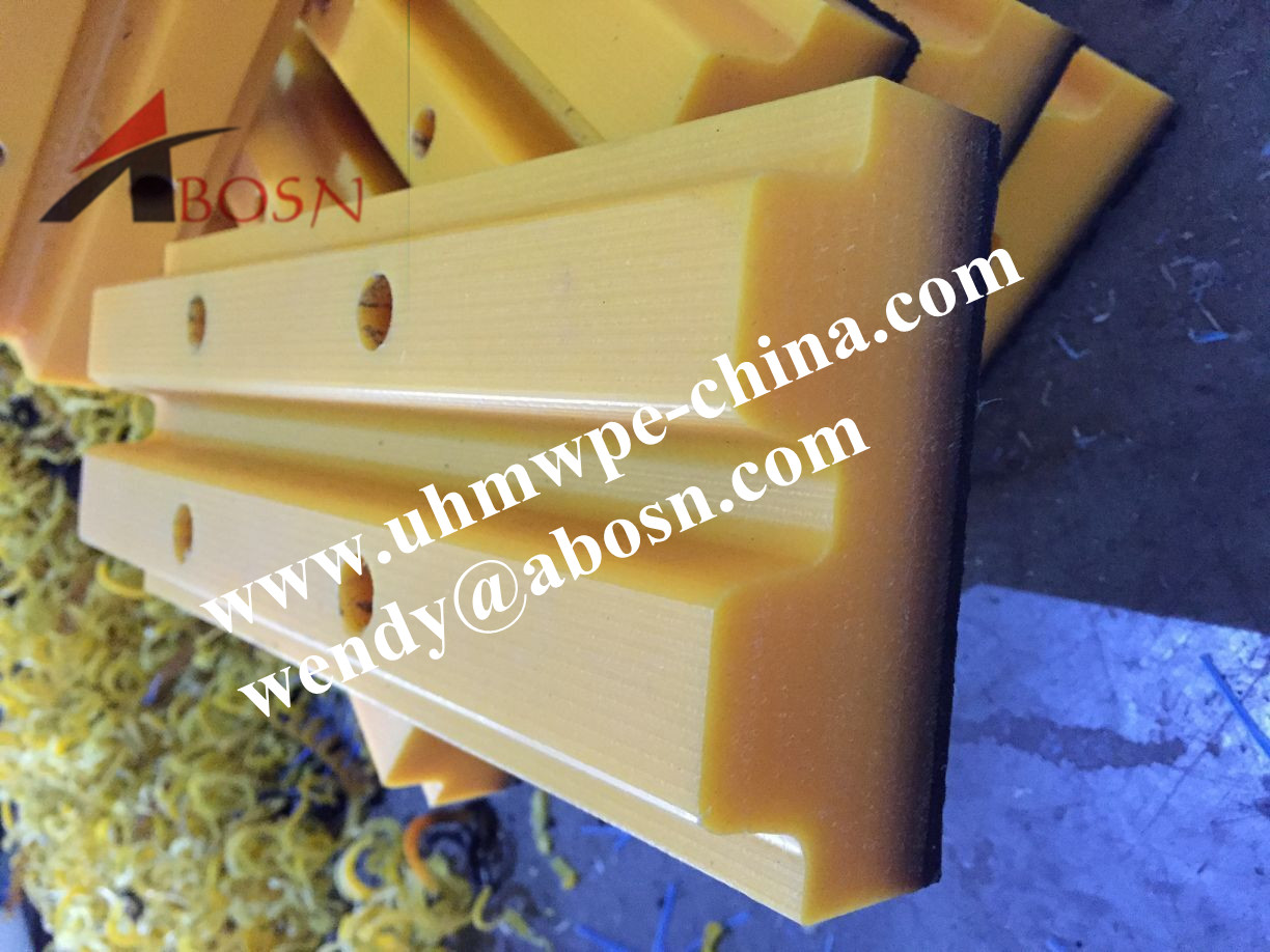 Yellow UHMWPE Excavator Track Shoes