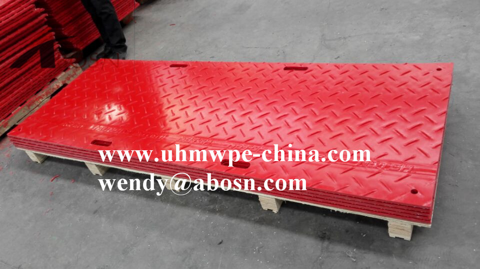 Red Floor Construction Mat