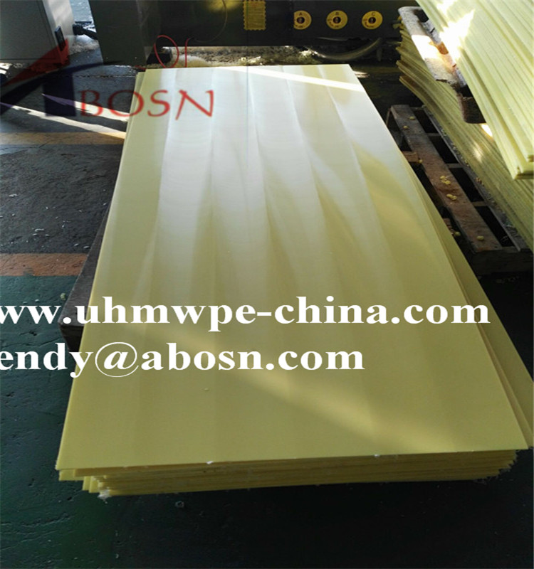 6mm Yellow UHMW Polyethylene Sheet