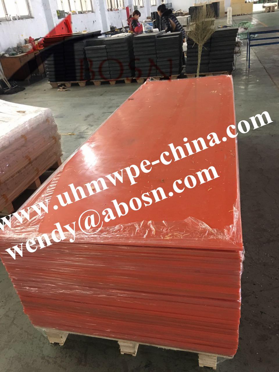 Orange Color High Density Polyethylene Sheet