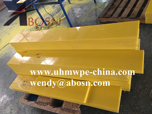 Yellow UHMWPE Wear Strips