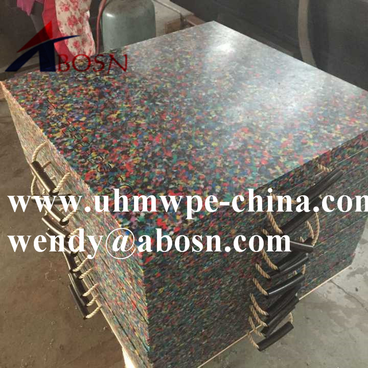 Colorful Plastic Cribbing For Sale Uhmwpe Crane Outrigger Pads