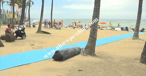 Blue Sandy Beach Access Mat for Disabled Wheelchair