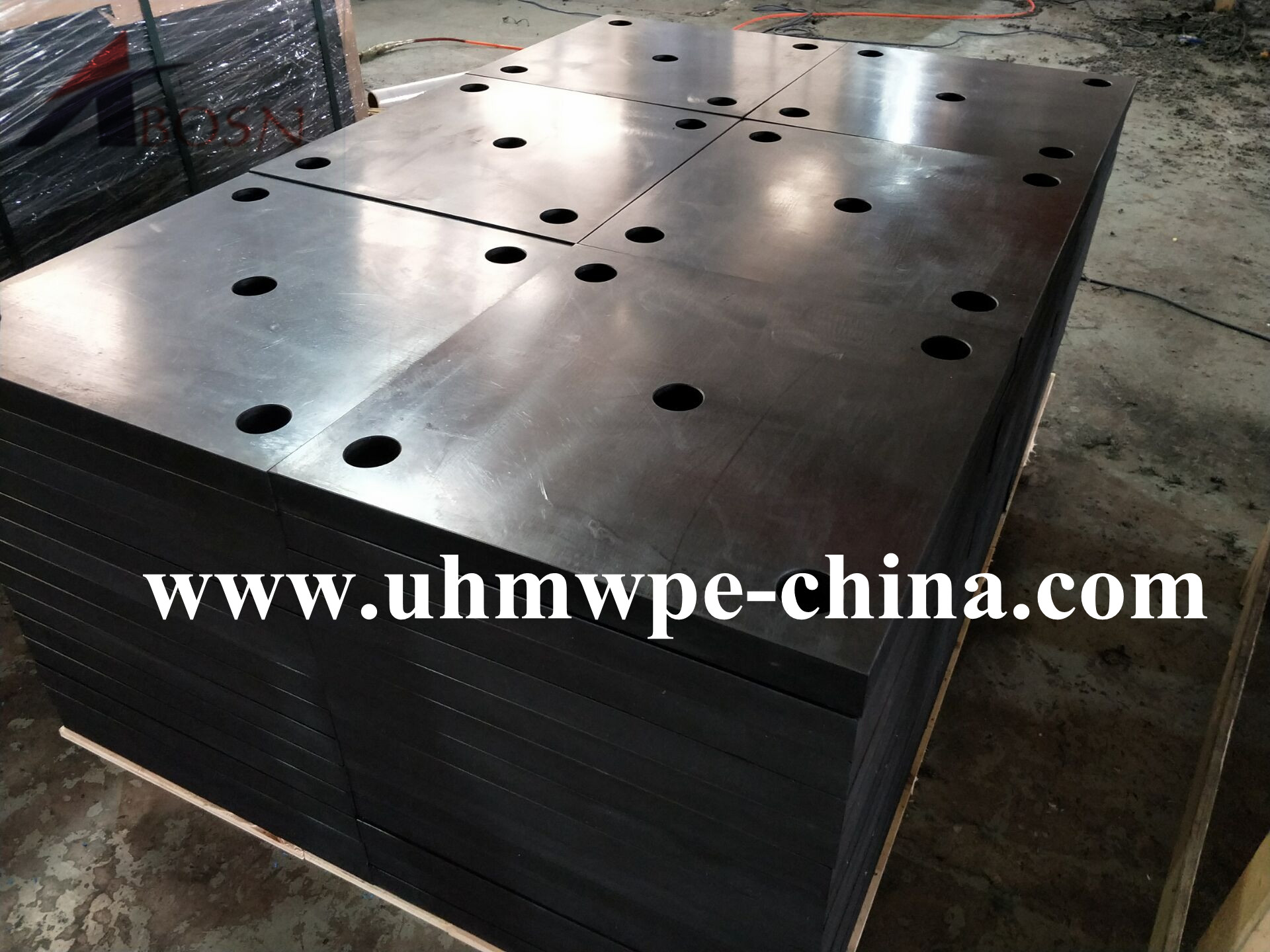 500x500mm Black UHMWPE Fender Pad