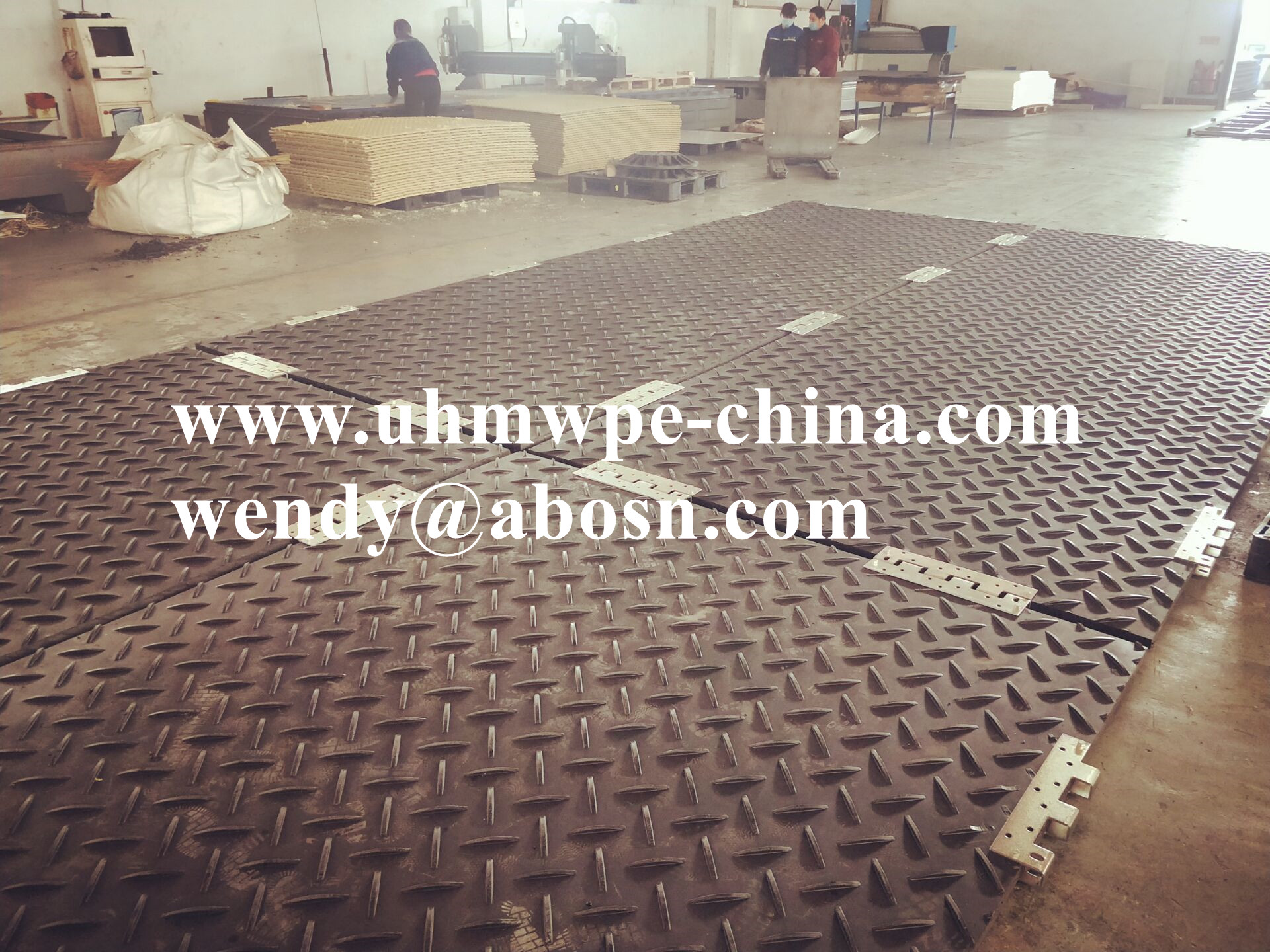 Construction Plastic Road Plates Composite Ground Cover Mats