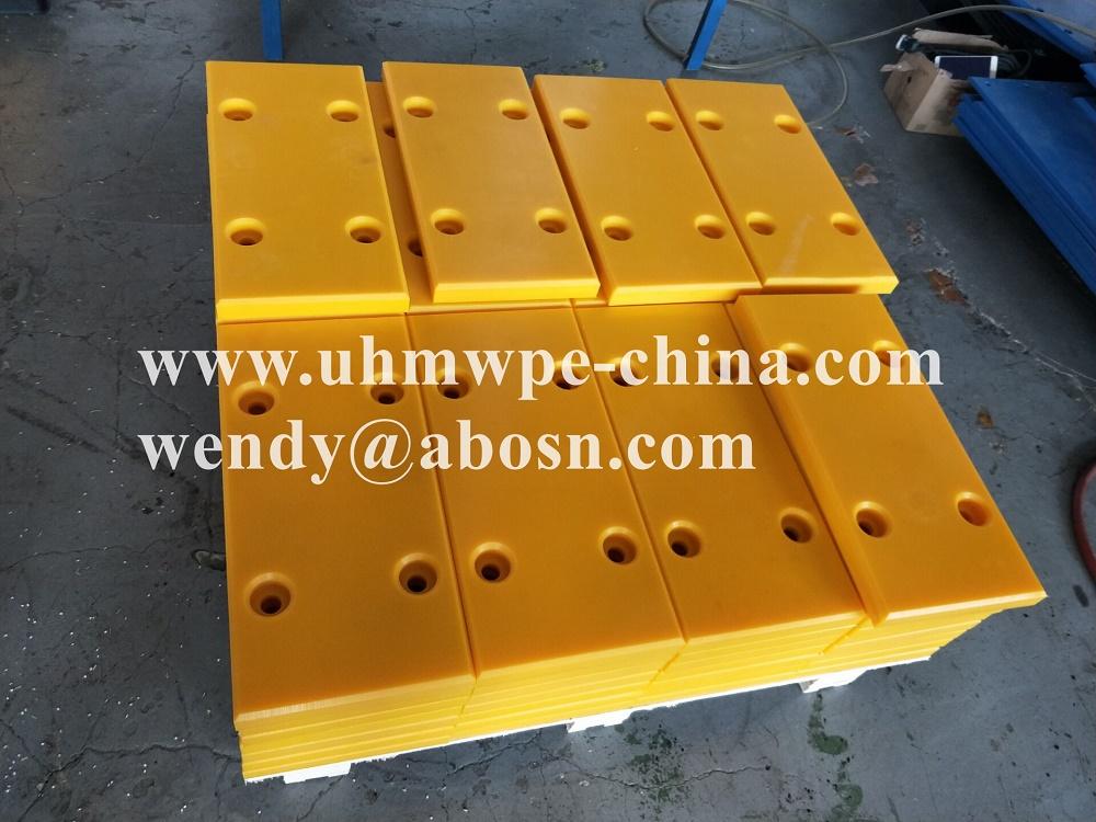 750x250x100mm Yellow PE Plastic Dock Bumper
