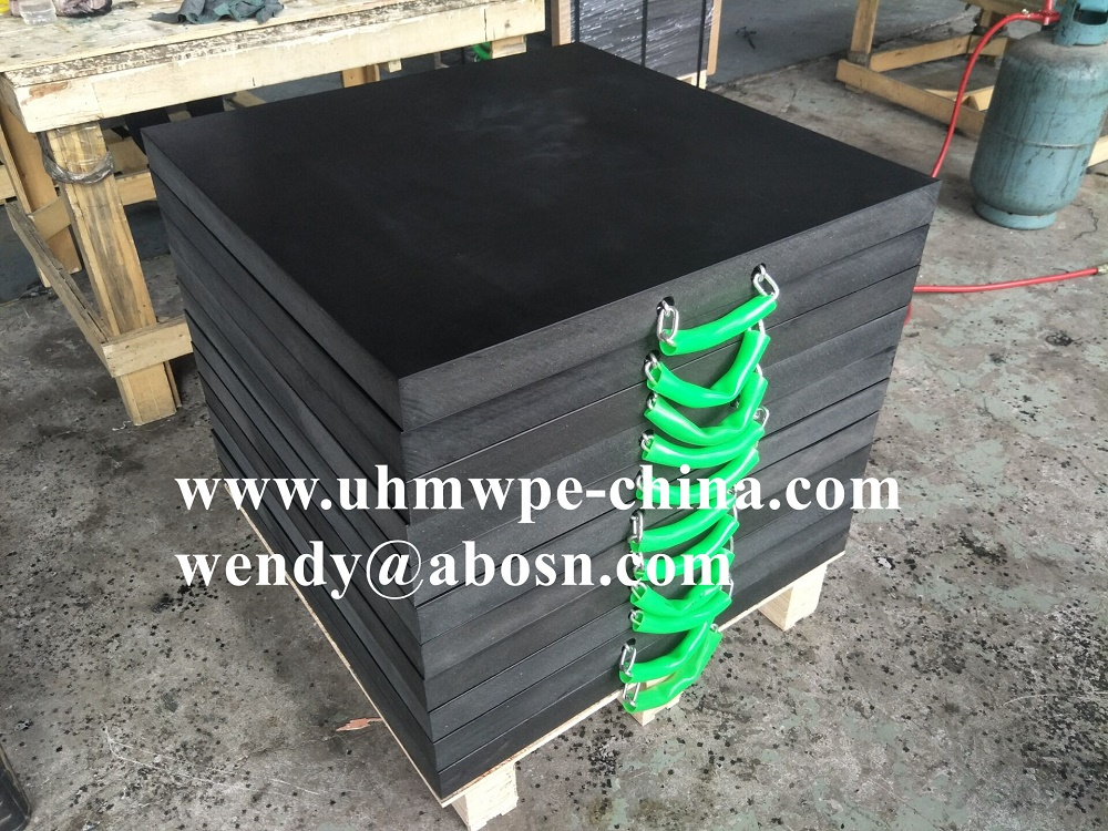 Custom Size Polyethylene Crane Outrigger Pad