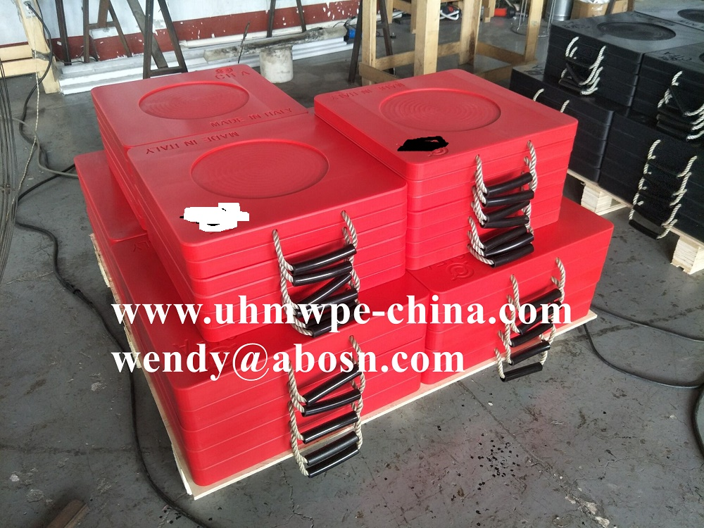 18''x18''x2'' Recycled PE Crane Outrigger Pads