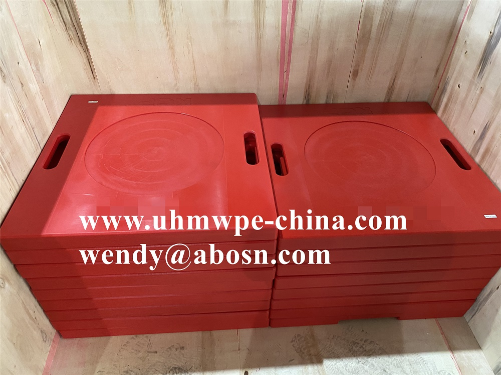 Solid Plastic Blocks Outrigger Pads for Boom Truck