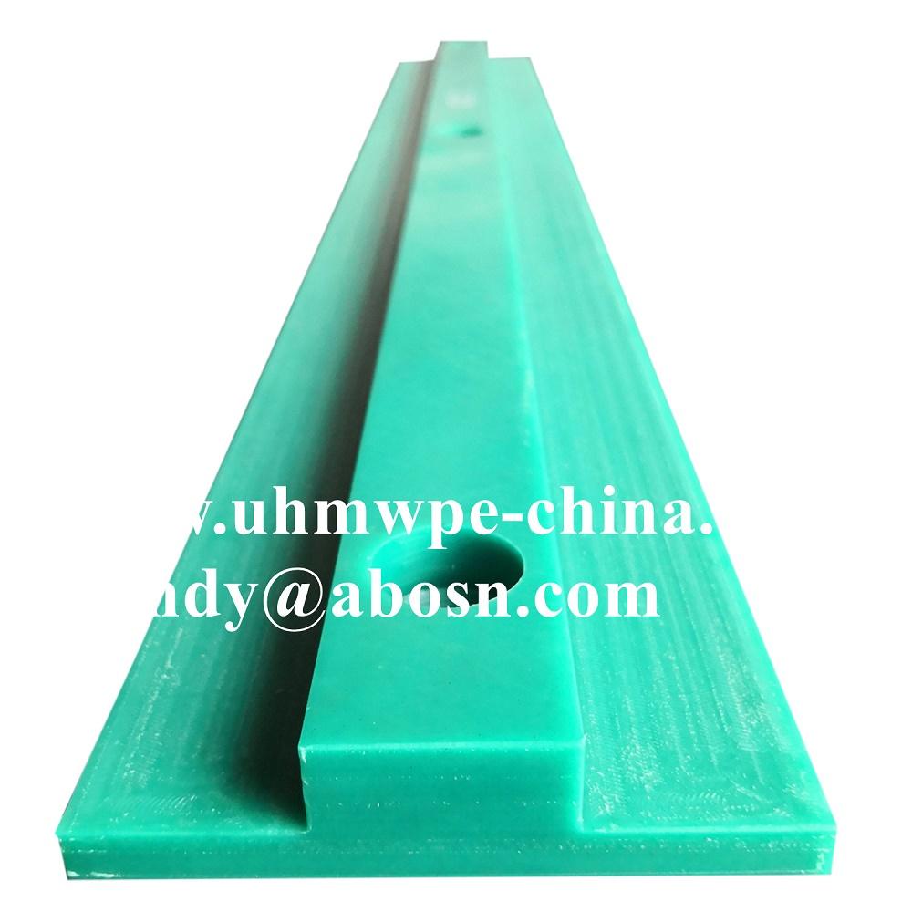 Green UHMW PE Wear Strip