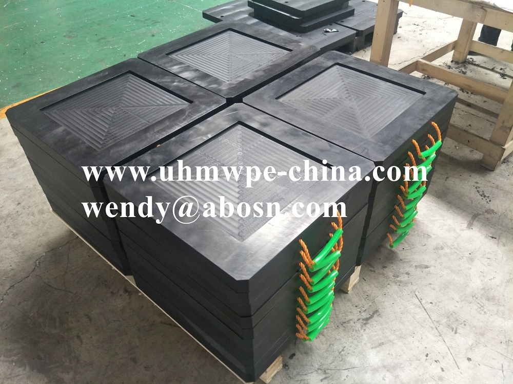 Electric Forklift Truck Crane Outrigger Pad